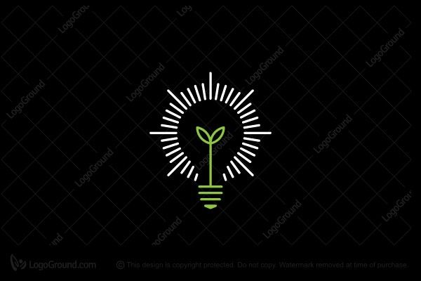 Logo for sale: Green energy Logo; A light bulb in 'green' to reflect ECO friendly; LED light logo; Bulb logo; Creative logo; Clever logo; Unique logo; Continuity Sustaining Preserving Durability Reliability ECO friendly Cost saving Buy Purchase Sell on sale Sold Product Business Brand Design Graphic Recognized Professional Software Apps App Applications Application Established Stability; B2B Simple Modern Pre-Designed logo logos