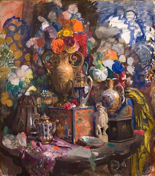 Сапунов - Цветы и фарфор (1912) - Сапунов, Николай Николаевич — Википедия