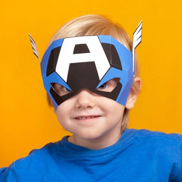Máscaras para imprimir e montar Os Vingadores