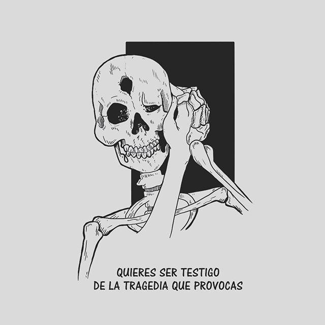 """Reposting @onlyin_dreams: """"Quieres ser testigo de lo que provocas"""" . . . #illustration #ayudajapipi #illustrator #arte #art #skull #skelleton #skeleton #instagood #instaday #picoftheday #instadaily #blancoynegro #blackandwhite #love #amor #cita #fraces #calaca #calaveras #instadaily"""