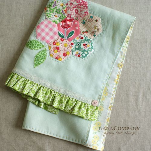 Like the ruffle & the lace...hexagons not so much.....maybe a tulip or another flower......