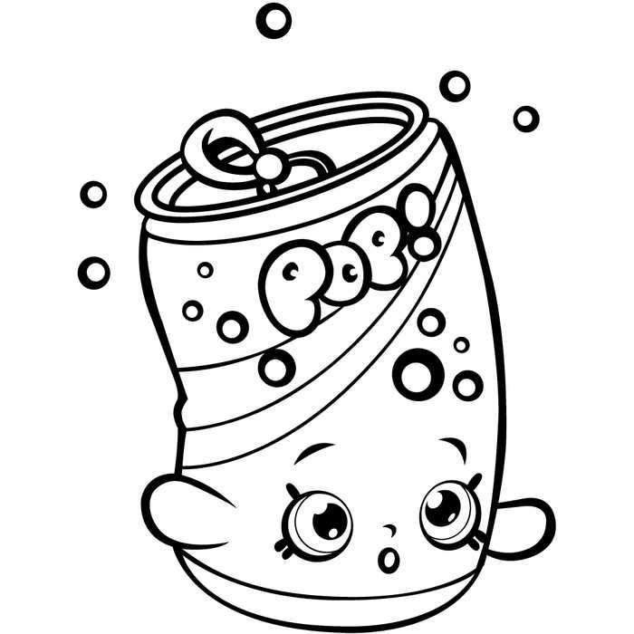 Shopkins Season 1 Soda Pops Coloring Page Teman