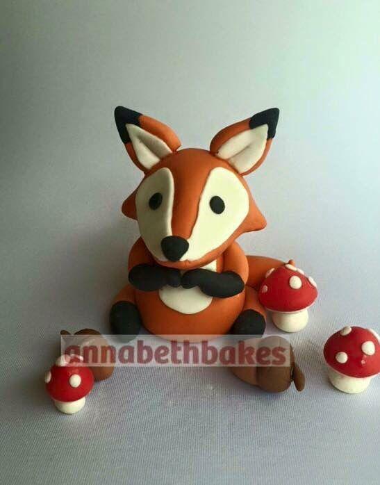 Woodlands theme baby shower fox - Annabethbakes