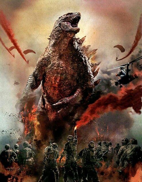 """GODZILLA- pelicula que se estreno en mayo del 2014 se dice que tendra SECUELA el 2018 todabia no hay confirmaciones """"fuertes"""" pero es lo mas probable"""