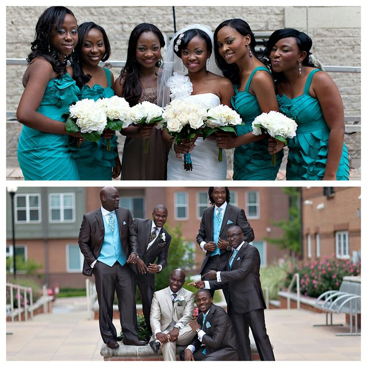 Nigerian Wedding Party: 72 Best Bridal Party Color Combination Ideas Images On