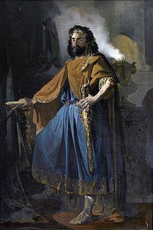 Euric, roi des wisigoths par Manuel Rodríguez de Guzmán. Tableau conservé au Musée du Prado.