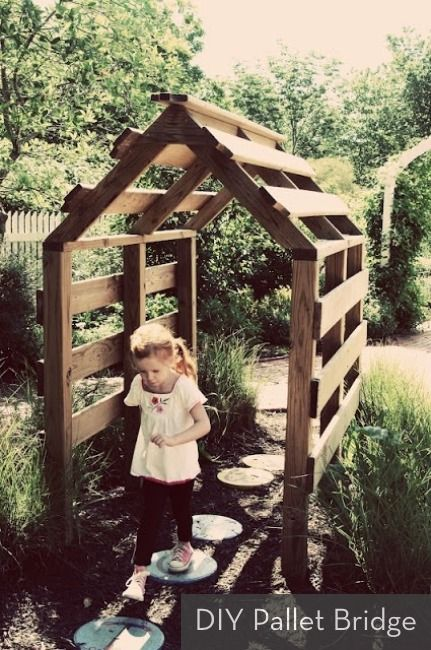 Inspiration: DIY Pallet Covered Bridge
