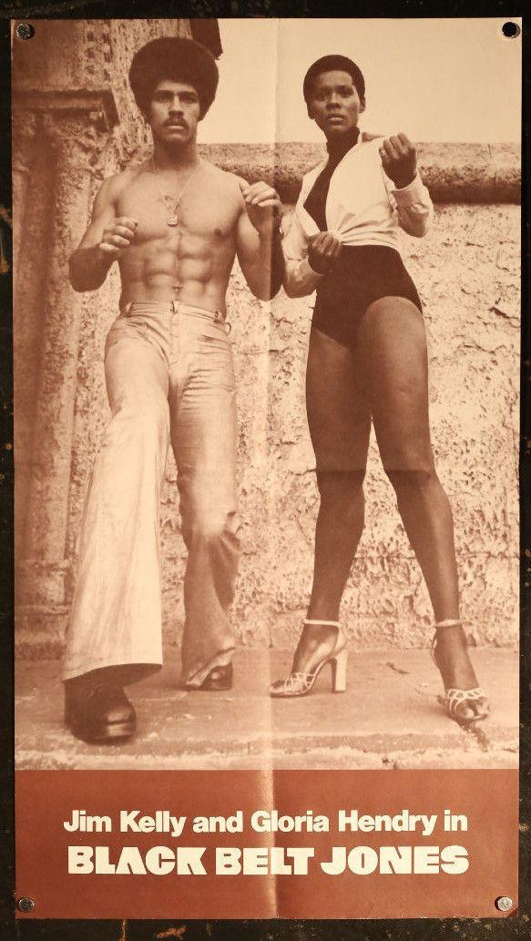 Vintage 1974 Black Belt Jones Jim Kelly Gloria Hendry Door - Panel Movie Poster