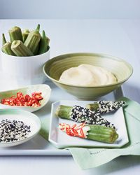 Okra Double Dippers Recipe on Food & Wine