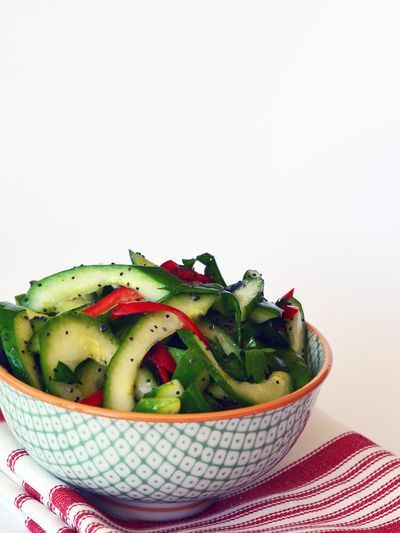 /// Cucumber and Poppy Seed Salad #cucumber #salad #veggie #vegetarian #food