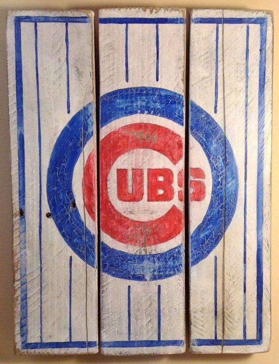 TAKING ORDERS Chicago Cubs Vintagelooking by HotShotPalletworks, $42.00