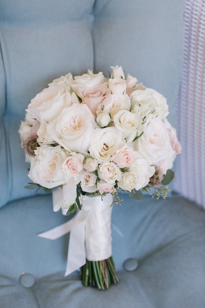 pure pink rose bouquet - photo #34