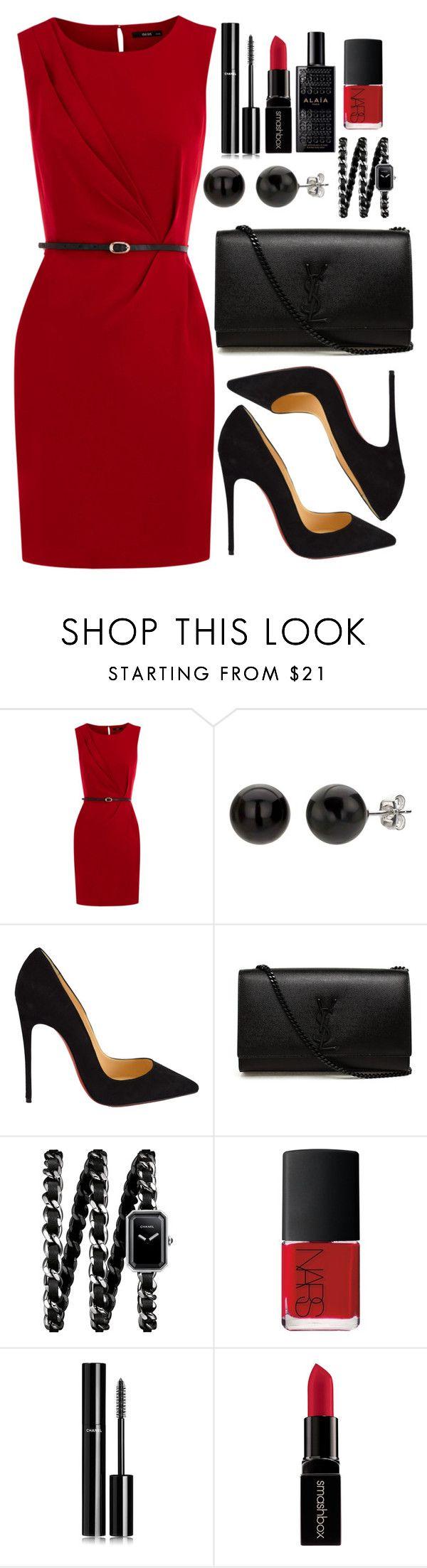 """Untitled #3520"" by natalyasidunova ❤ liked on Polyvore featuring Oasis, Christian Louboutin, Yves Saint Laurent, Chanel, NARS Cosmetics, Smashbox, Alaïa, women's clothing, women's fashion and women"