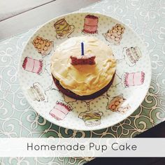 Homemade birthday cake for dogs; all natural cake with simple ingredients you probably already have on-hand.