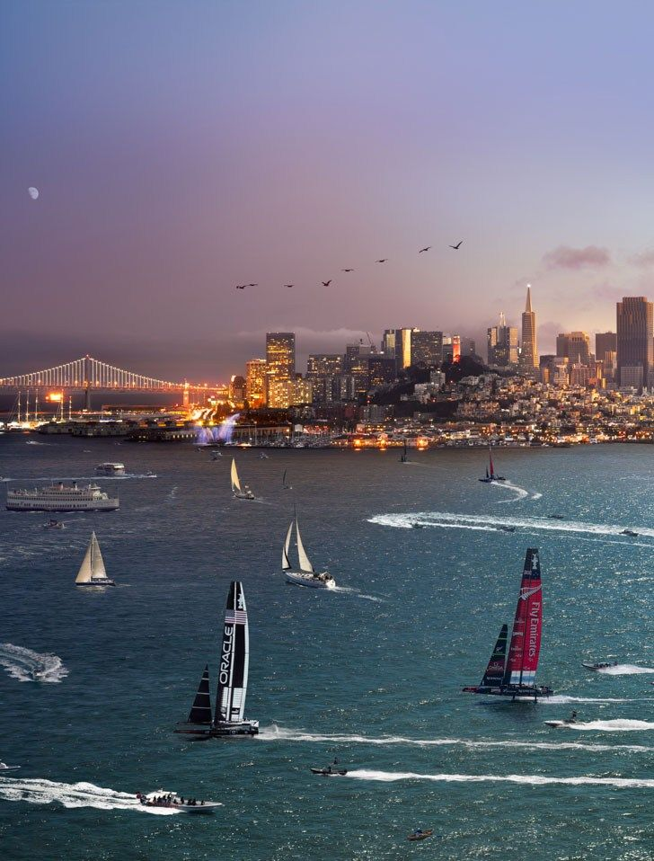 'Day to Night' San Francisco: 'The America's Cup' by Stephen Wilkes