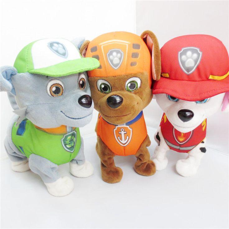24cm Dog Doll Electronic Pet Baby Electric Plush Toy Action Figure Patrulla Canina Dog Toys Canine Patrol Brinquedos Free Shippi