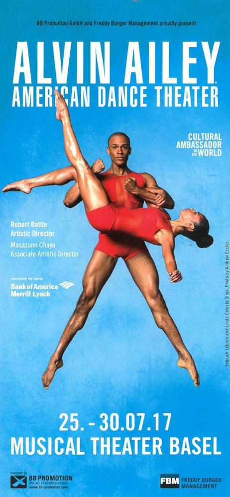 ALVIN AILEY - AMERICAN DANCE THEATER 2017 - ORIGINAL FLYER TANZ COMPANY | eBay