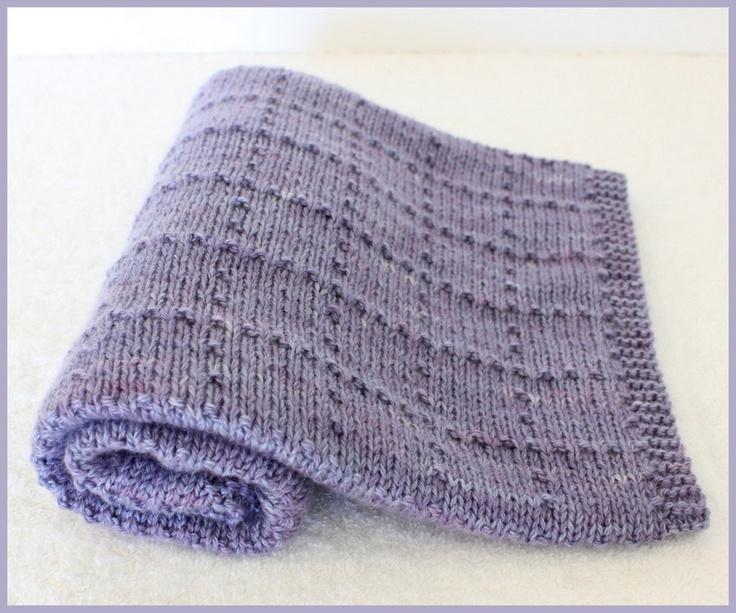 Georgia Afghan Knitting Pattern : Cashmere Newborn Baby blanket - Miss Violette Knitting ...