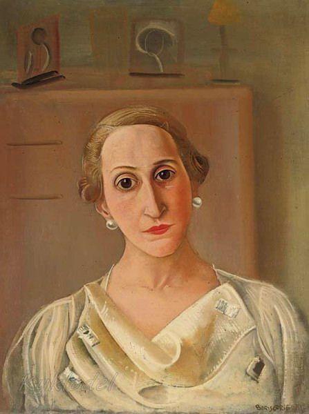 Portrait of Juanita Edwards de Gandarillas ,1936 by Boris Grigoriev (1886, Rybinsk, near Moscow, Russia ~ 1939, Cagnes-sur-Mer, France)