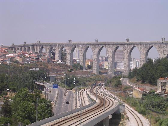 Aqueduct in Belem (Quarter of Lisbon), Portugal