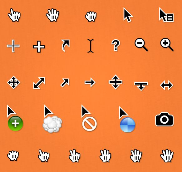 Free Cursors, Pointers and Arrow Icons