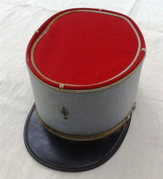 Vintage French Hat Army Kepi Military Hat by FrenchMarketFinds, €38.00