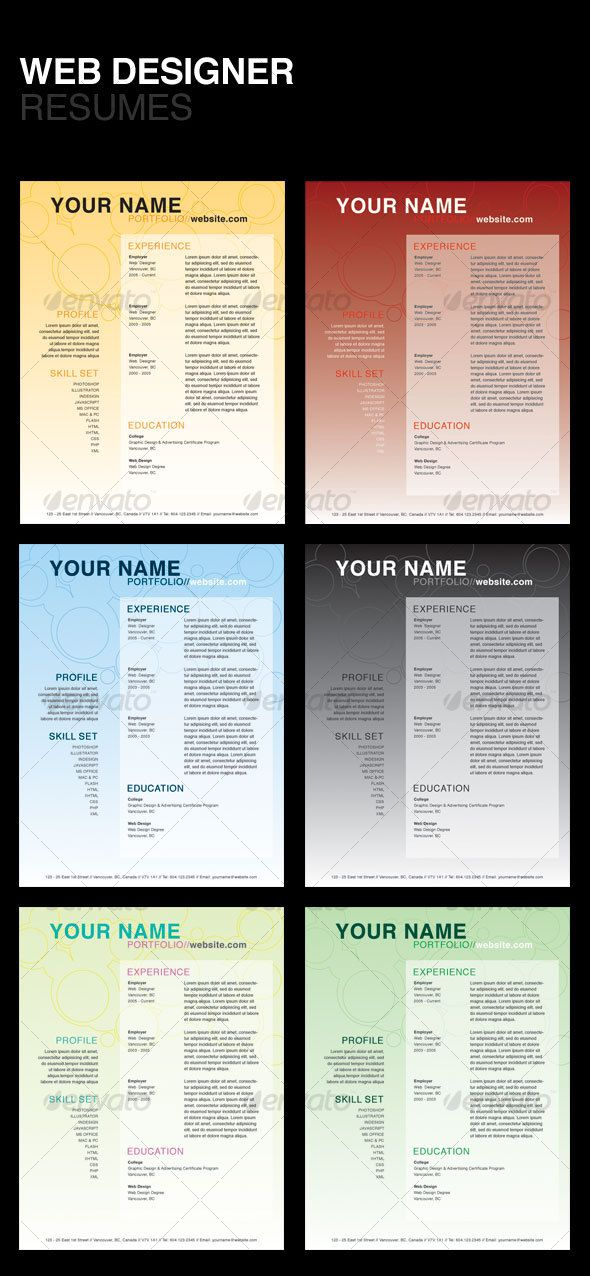 The 25+ best Web designer resume ideas on Pinterest Creative cv - designer resume template
