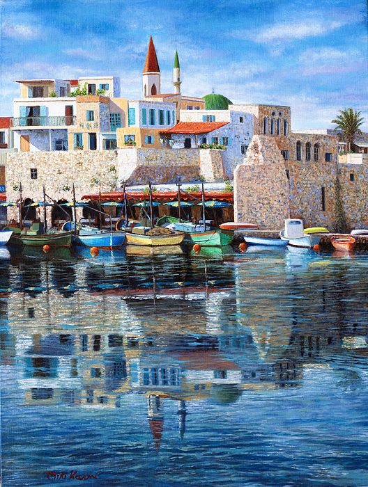 Summer Painting - Somewhere In The Mediterranean by Miki Karni