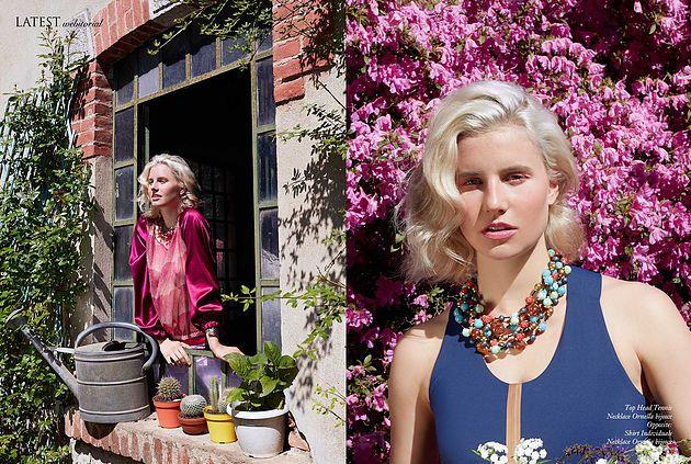 WEBITORIAL for Latest magazine | Photographer Celeste Fabbris Stylist Valentina Bianchini Model Saraya Van Dreumel c/o Wonderwall Makeup Michela Barboni