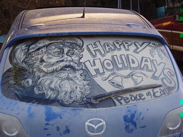 Best Art Dirty Car Images On Pinterest Alternative Art - Scott wade makes wonderful art dusty car windows