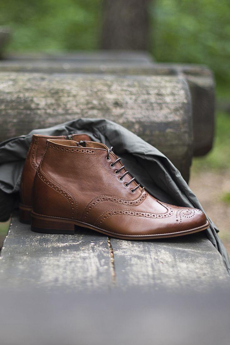Trzewiki Sztyblety Meskie Podwyzszajace Brazowe Dress Shoes Men Oxford Shoes Dress Shoes