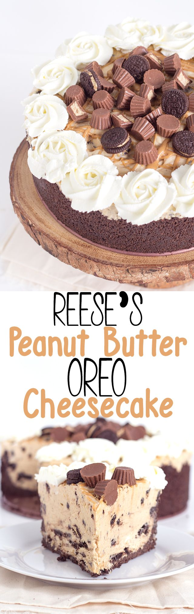 Delicious no bake reese's peanut butter oreo cheesecake. If you love peanut butter and cookies, this cheesecake is made just for you. It's so simple to make