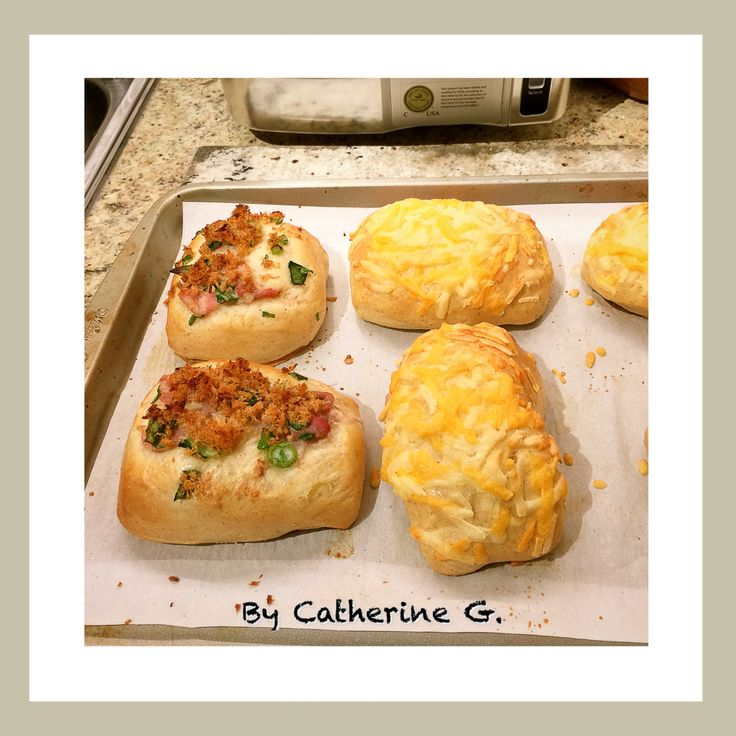 Bacon & Cheese Buns ~ made from scratch :)