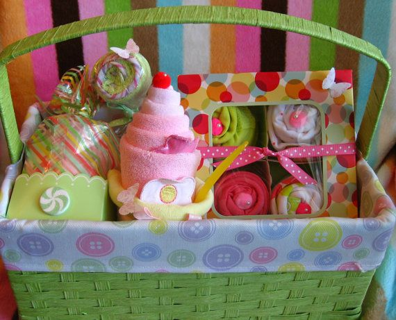 Baby Girl Gift Basket by ButtercupBabyShop on Etsy