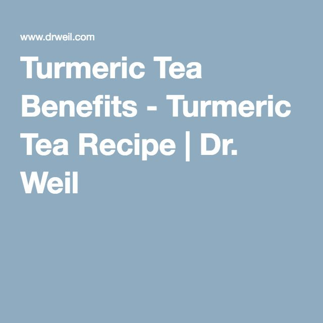 Turmeric Tea Benefits - Turmeric Tea Recipe | Dr. Weil