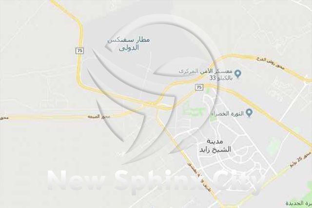 أين تقع مدينة سفنكس الجديدة City Sphinx Map