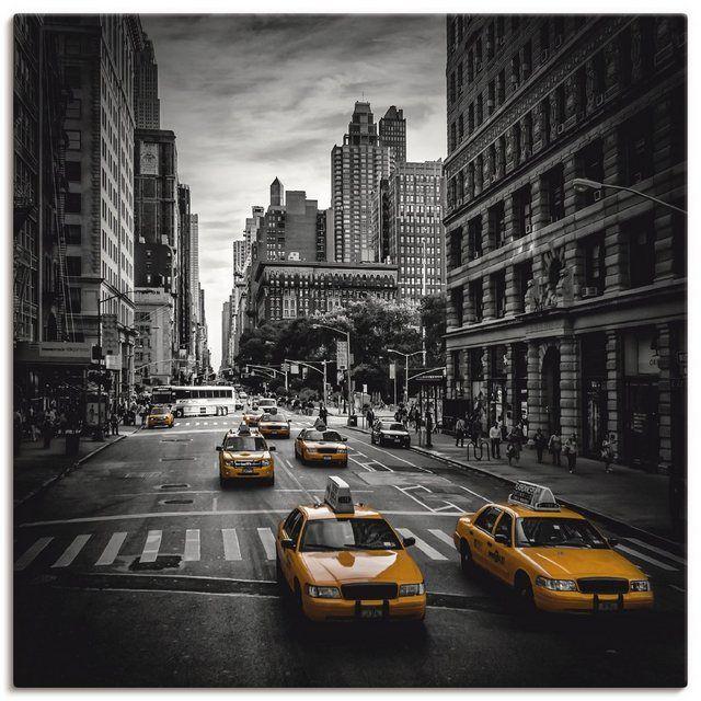 Leinwandbild »M. Viola: New York Verkehr auf der 5th Avenue«
