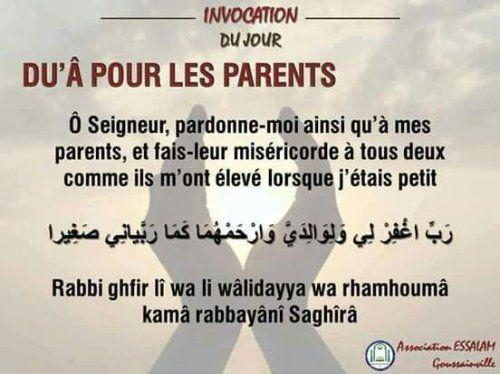 Parmi les causes qui élèveront les parents en degré au paradis...La demande de pardon pour eux!