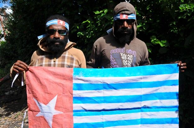 OPM, Organisasi Papua Merdeka, West-Papua, flag, Irian Jaya, Indonesia, Indonesien, Flagge