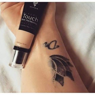 The Younique Mineral Touch Skin Perfecting Concealer can fully cover a tattoo!! Imagine what it can do for blemishes!!