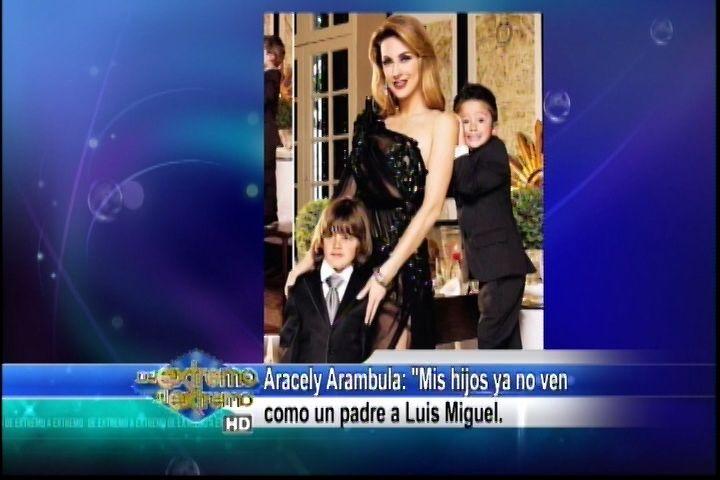 Aracely Arámbula Dice Que Sus Hijos Ya No Ven Como Un Padre A Luis Miguel