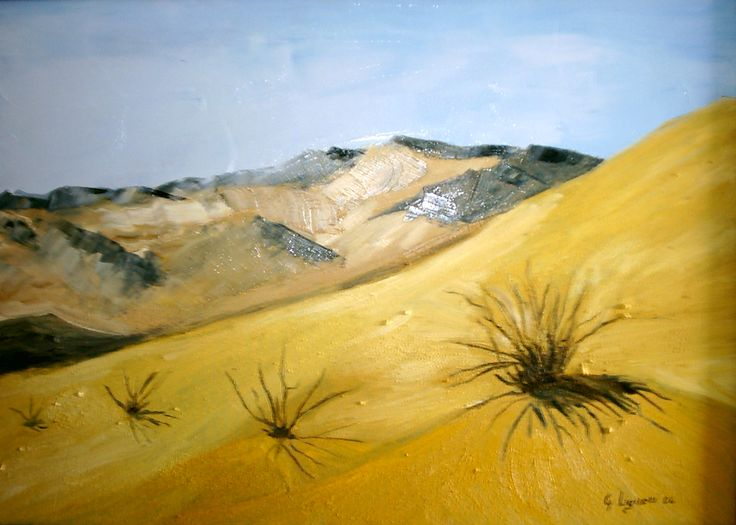 Sahara, there where there is nothing #painting #oil on canvas