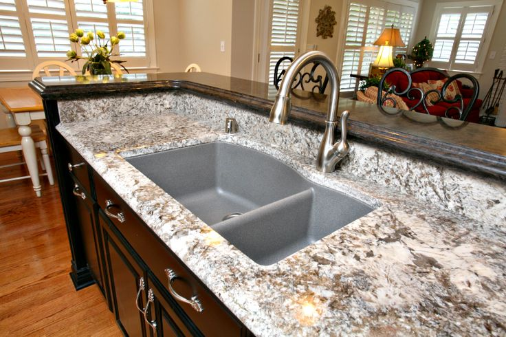 Pergaminho Granite With Granite Composite Sink Kitchen