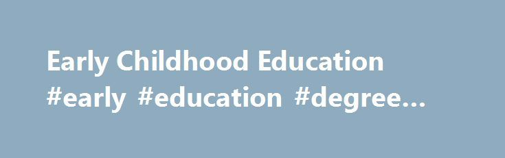 Department of Early Childhood Education | Towson University