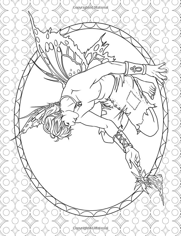 adult coloring page - Coloring Pages Dragons Fairies
