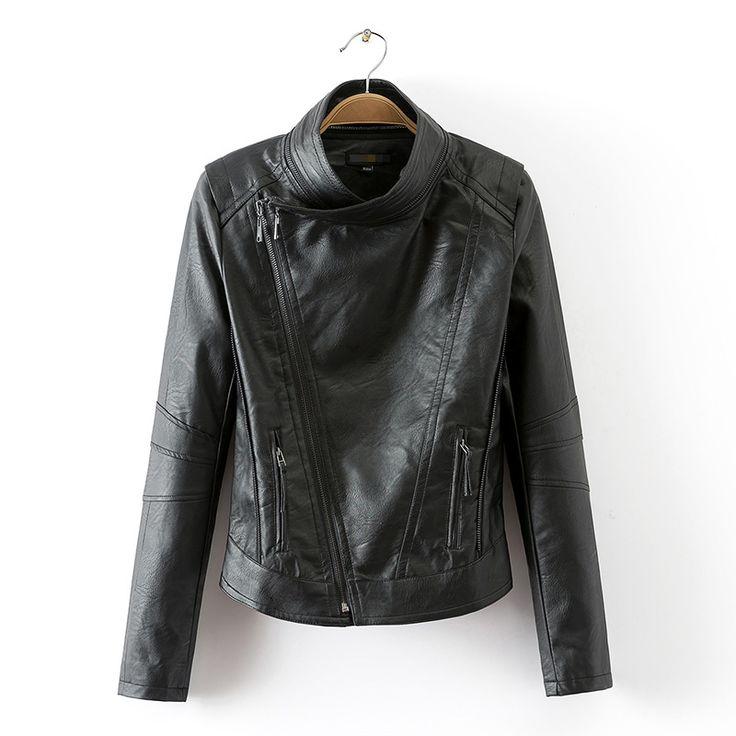 Оригинальные одной дамы 2016 весной моделей моды косые молнии Тонкий мотоцикл одежды PU кожаная куртка пальто женский прилив - Taobao