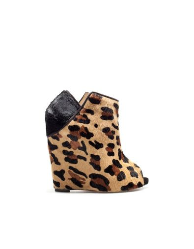 LEOPARD WEDGE - Woman - New this week - ZARA United States