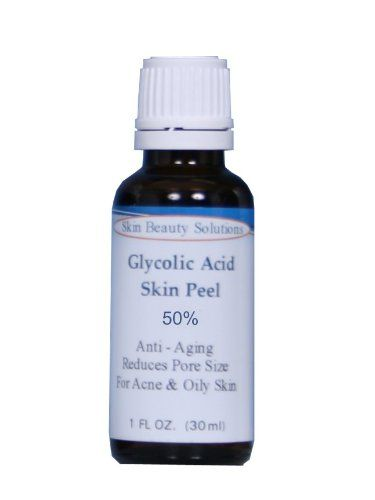 (1 oz / 30 ml) GLYCOLIC Acid 50% Skin Chemical Peel - Unbuffered - Alpha Hydroxy (AHA) For Acne, Oily Skin, Wrinkles, Blackheads, Large Pores & More (from Skin Beauty Solutions). This type is much stronger then our regular buffered Glycolic Acid. And rejuvenating the skin's surface. Unattractive skin cells. As this dead skin is chemically burned off, the other ingredients carry the individual flakes away and a water rinse neutralizes the remaining acid. Decreasing facial lines.