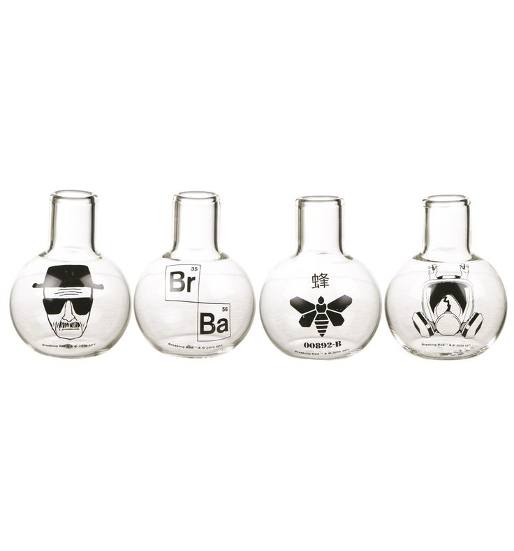 Breaking Bad Test Tube Shot Glasses Set Get any party started in style with the Breaking Bad Chemistry Glass shot glass set! Remember to drink responsibly! http://www.MightGet.com/february-2017-3/breaking-bad-test-tube-shot-glasses-set.asp
