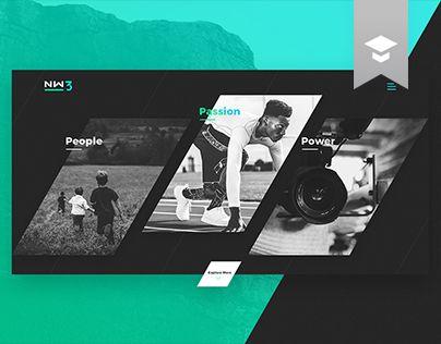 """다음 @Behance 프로젝트 확인: """"NW3 Media Website"""" https://www.behance.net/gallery/45892133/NW3-Media-Website"""